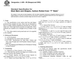 ASTM A 499 – 89 international standard