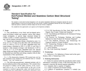 ASTM A 501 – 01 international standard