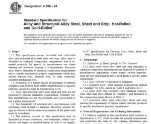 ASTM A 506-04 international standard