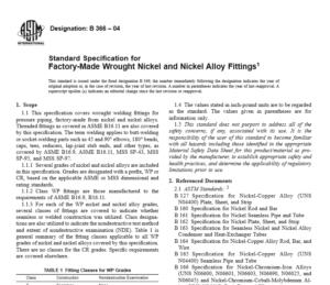ASTM B 366 – 04 International standard