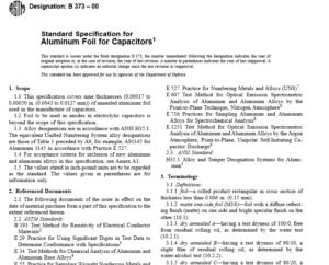ASTM B 373 – 00 International standard