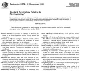 ASTM B 374 – 96 International standard