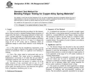 ASTM B 593 – 96 International standard
