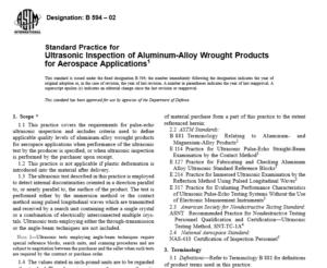 ASTM B 594 – 02 International standard