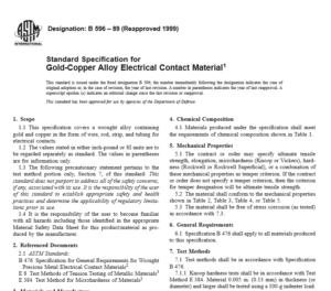 ASTM B 596 – 89 International standard