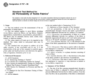 ASTM D 737 – 96 International standard